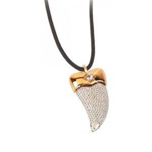 【送料無料】ネックレス オロアルジェントcollana pendente corno uomo byblos blumen 8560 oro e argento