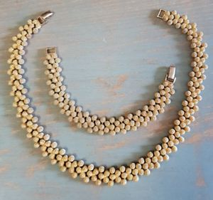 【送料無料】ネックレス ネックレスブレスレットparure collier ras du cou et bracelet en metal dor refv848