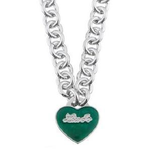 【送料無料】ネックレス クオーレバードcollana girocollo pendente donna liu jo lj639 cuore smalto verde logato ottone