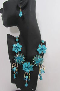 【送料無料】ネックレス トレンドネックレスイヤリングfemmes tendance bavoir set collier boucles doreilles perles fleurs or mtaux