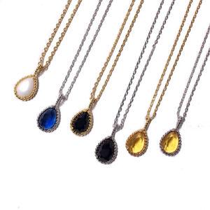 【送料無料】ネックレス クランプゴールドクリスタルオーストリアcollier pendantif dor petit carr cristal autriche bleu vert rouge jaune nd5