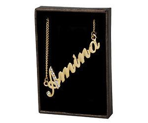 【送料無料】ネックレス クランプクリスマスnom collier amina 18k plaqu or beau cadeau de nol pour elle