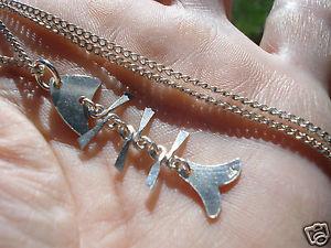 【送料無料】ネックレス ペンダントチェーンbeau pendentif poisson articule en argent et sa chaine