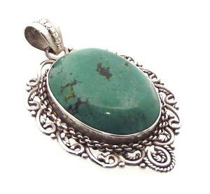 【送料無料】ネックレス ターコイズトルコチベットtibtain turquoise gemme 925 pendentif motif 22