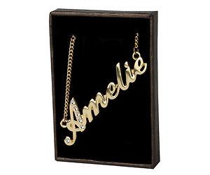 【送料無料】ネックレス クリップクリスマスnom collier amelie 18k plaqu or beau cadeau de nol pour elle