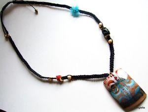 【送料無料】ネックレス スパイラルウォッシャターコイズsautoir spirales multicolore macram noir lave cinabre fleur organza turquoise
