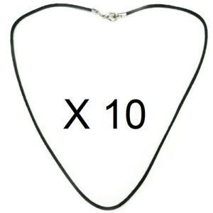 【送料無料】ネックレス ネックレスブラックコードバッチlot de 10 collier cordon noir 1mm coton huil brillant longueur 35 80 cm