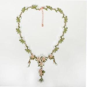 【送料無料】ネックレス エナメルmagnifique en mail fleur collier 38cms rallonge cg0682