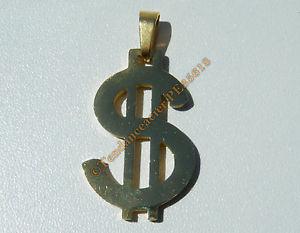 【送料無料】ネックレス ドルゴールデンステンレススチールpendentif bling bling dollars rappeur dj dor plaqu or pur acier inoxydable
