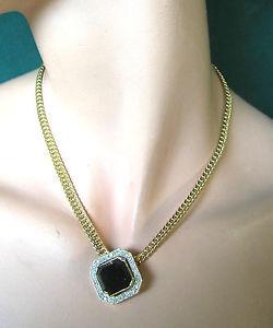 【送料無料】ネックレス クランプドール677 collier dore et strass noir