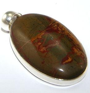 【送料無料】ネックレス argent sterling jaspe bijoux pendentif pend474