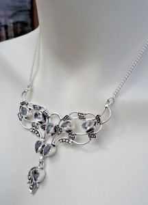 【送料無料】ネックレス ネックレスcollier plaqu argent et quartz transparent co39