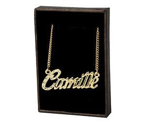 【送料無料】ネックレス メッキクランプカミーユサンバレンティンplaqu or 18k collier prnom camille la saint valentin fte des mres