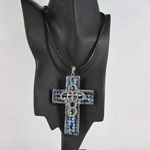 【送料無料】ネックレス ネックレスイヤリングモードメタルブラックfemmes collier boucles doreilles mode faith grand 3d noir mtallique
