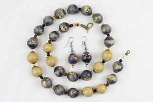 【送料無料】ネックレス ネックレスイヤリングタイプnaturel argile perles collierearrings set peint la main kazuri type ncs38