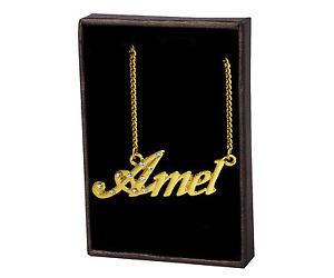 【送料無料】ネックレス ネームネックレスクリスマスnom colliers amel 18k plaqu or unique fait sur mesure nol cadeau amiti