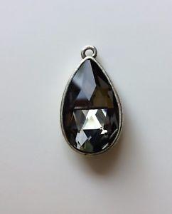 【送料無料】ネックレス クリスタルビンテージペンダントドリップrare pendentif vintage forme goutte deau cristal brillant scintillant , 20x30mm