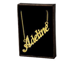 【送料無料】ネックレス ネームネックレスkゴールドメッキカスタムクリスマスnom colliers adeline 18k plaqu or personnalis bijoux lettre amis nol