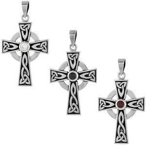 【送料無料】ネックレス スターリングシルバートリニティセルティッククロスペンダントargent sterling presbytrienne trinit croix celtique pendentif avec unique