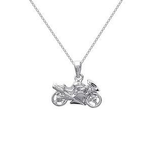 【送料無料】ネックレス オートバイクランプcollier moto en argent 925 neuf longueur au choix 45 cm ou 50 cm