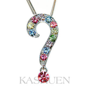 【送料無料】ネックレス シエルスワロフスキークリスタルネックレスarcenciel point dinterrogation fabriqu en swarovski collier cristal bijoux
