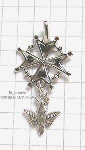 【送料無料】ネックレス クロスペンダントシルバーフランスプロテスタントcroix huguenote protestante pendentif en argent  bijoux altesse france