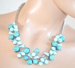 【送料無料】ネックレス クリップラスcollier femme argent bleu vert ras du cou noyaux cristaux strass crmonie f60