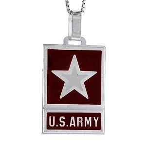 【送料無料】ネックレス スターリングシルバーエナメルブラウンアメリカargent sterling marron maill amricain arme pendentif,fabriqu en