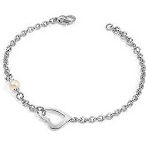 【送料無料】ネックレス アイコンブレスレットクオーレペルラbracciale ciondolo morellato icone donna syt03 bracelet acciaio cuore perla