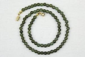 【送料無料】ネックレス クランプミリヒスイネックレス5mm jade collier 5 mm jade perles vert naturel jade collier longueurs varies
