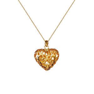 【送料無料】ネックレス ハートネックレスcollier coeur relief en plaqu or 18ct neuf longueur au choix 45cm ou 50cm