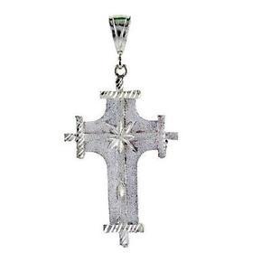 【送料無料】ネックレス グラムクロスペンダント124 grammes argent sterling croix grand pendentif