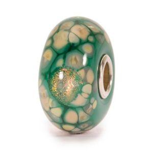 【送料無料】ネックレス モザイクモザイコディフィオーリヴェルディauthentic trollbeads green flower mosaic tglbe20056 mosaico di fiori verdi
