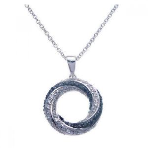 【送料無料】ネックレス スターリングシルバーオープンサークルブラッククランプfemmes en argent sterling 925 rh cercle ouvert noir zc 16 collier rglable