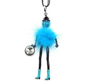 【送料無料】ネックレス ペンダントネックレスポンポンsp712d sautoir collier pendentif poupe articule femme robe pompon fourrur