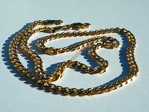 【送料無料】ネックレス クランプチェーンステンレススチールブレスレットメッシュchaine collier 51 cm acier inoxydable maille gourmette 4 mm dor plaqu or