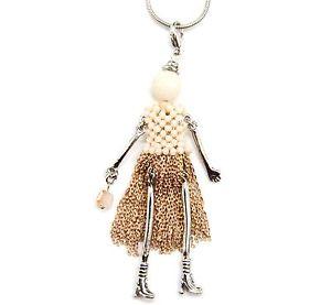 【送料無料】ネックレス ペンダントネックレスsp716d sautoir collier pendentif poupe articule femme robe perles et cha