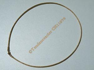 【送料無料】ネックレス メッシュゴールデンステンレススチールゴールドチェーンクランプchaine collier ras de cou 45 cm maille serpentine dor acier inoxydable 2 mm or