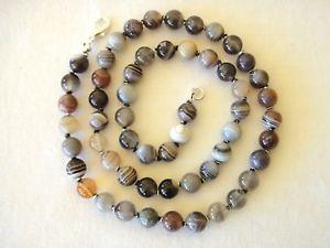 【送料無料】ネックレス ボツワナネックレスパールミリbotswana agate collier 6mm perle 508cm main nou multicolore 6 mm runis agate