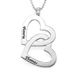 【送料無料】ネックレス アルジェントダブルcollana in argento 925 personalizzata double heart