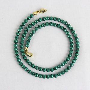 【送料無料】ネックレス クランプマラカイトミリマラカイトグリーン4mm malachite collier 4 mm malachite perles vert malakite divers longueur