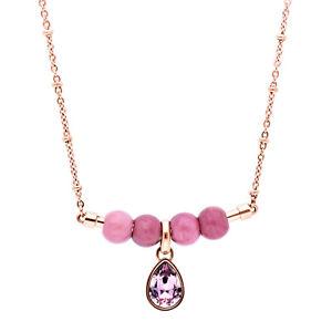 【送料無料】ネックレス ローズコンヌオーヴォbrosway tres jolie, collana acciaio rose con charm swarovsky btjms694, nuovo