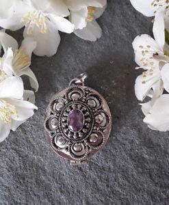 【送料無料】ネックレス シークレットボックスシルバーagnes creations joli pendentif poison boite secret argent 925 amp; amethyste