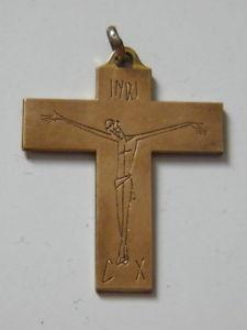 【送料無料】ネックレス モダンクロスpetite croix religieuse en laiton moderne,poque 20 me,n189