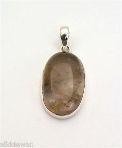 【送料無料】ネックレス スターリングシルバーレッドブラウンクォーツルチルargent sterling rougemarron rutile quartz bijoux pendentif 3182