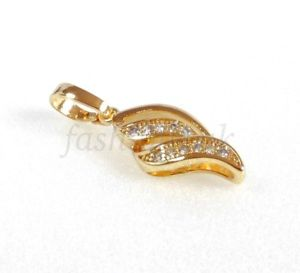 【送料無料】ネックレス kイエローゴールドメッキnouvelle annoncecoque sparkling pendentif uniquement nouveau 14k jaune or plaques
