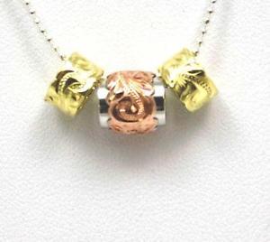 【送料無料】ネックレス シルバーハワイアンプルメリアピンクダブルバレルパールpais argent 925 hawaen plumeria volutes rose double baril jaune perle ensemble