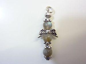 【送料無料】ネックレス ペンダントクロスチベットpendentif ange croix labradorite 6 mm amp; argent du tibet