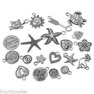 【送料無料】ネックレス クランプブレスレットペンダントメタル100 mixte pendentifs breloques mtal pour bracelet collier 105x59cm