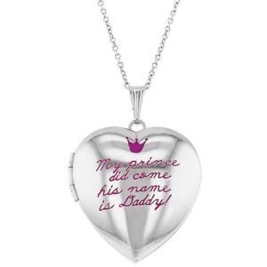 【送料無料】ネックレス プリンスピンククラウンメダイヨンネックレスmon prince did venez rose couronne photo collier mdaillon coeur pour filles